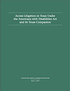 Access Litigation in Texas Under the Americans with Disabilities Act and its Texas Companion